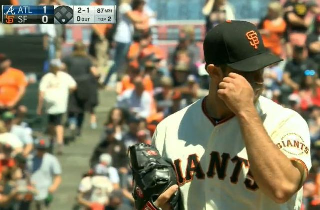 Giants-Bumgarner-Snotrocket-2016-08-28-Eye Wipe-1