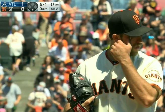 Giants-Bumgarner-Snotrocket-2016-08-28-Eye Wipe-2