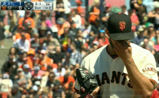 Giants-Bumgarner-Snotrocket-2016-08-28-Eye Wipe-4