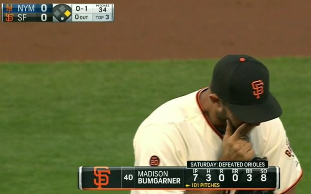 Giants-Bumgarner-Snotrocket-2016-8-18