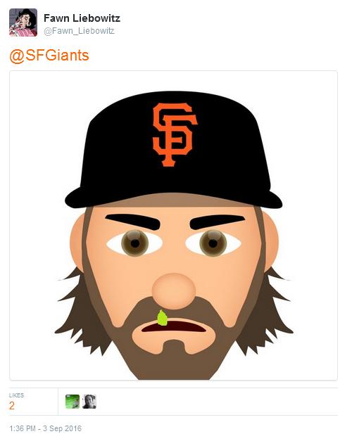 Giants-Bumgarner-Snotrocket-2016-09-03-Tweet-Emoji-1