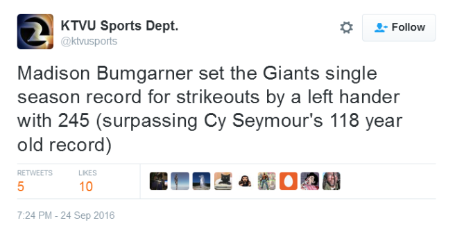 giants-bumgarner-snotrocket-2016-09-24-strikeout-record-cy-seymour