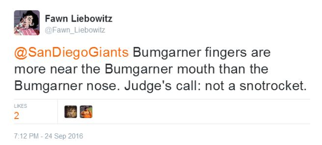 giants-bumgarner-snotrocket-2016-09-24-tweet-not-a-snotrocket-1
