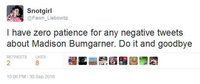 giants-bumgarner-snotrocket-2016-09-30-tweet-zero-patience-negative-tweets