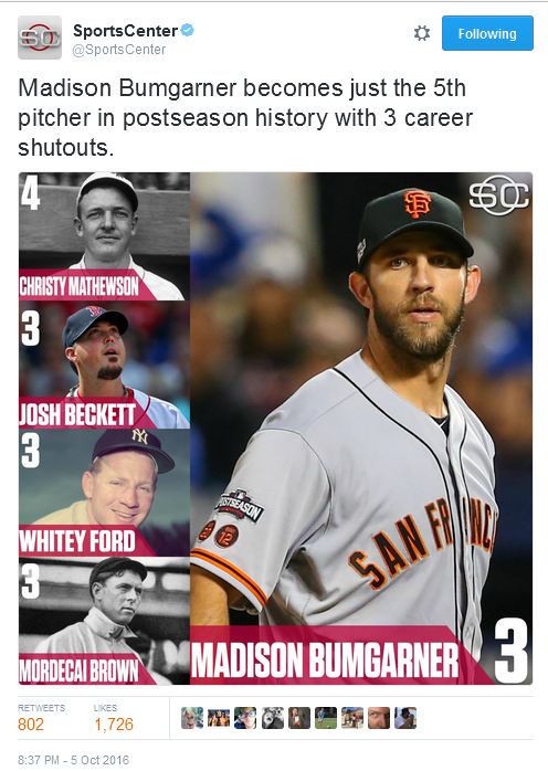 giants-bumgarner-snotrocket-2016-wild-card-tweet-sportscenter-5th-pitcher