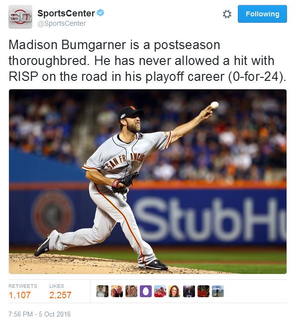 giants-bumgarner-snotrocket-2016-wild-card-tweet-sportscenter-thoroughbred