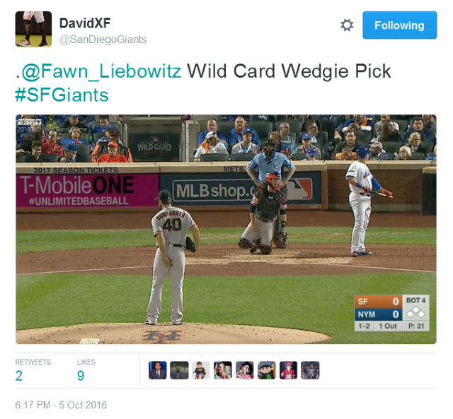 giants-bumgarner-snotrocket-2016-wild-card-wedgie-pick-tweet